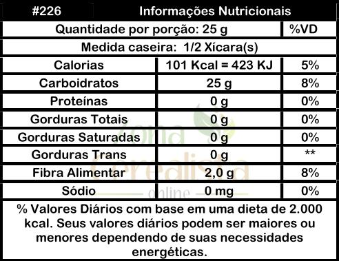 Tabela Nutricional #ZonaCerealistaOnline