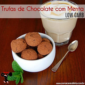 Trufas de Chocolate com Menta Low Carb