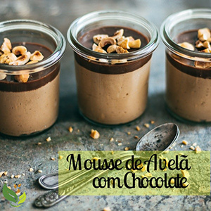 Mousse de Avelã com Chocolate