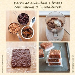 Barra Amendoas Frutas 3 Ingredientes