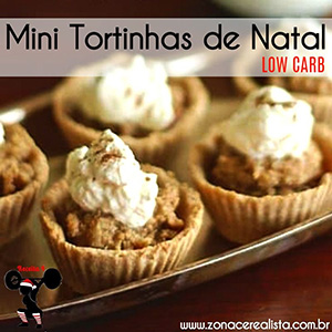 Mini Tortinhas de Natal Low Carb