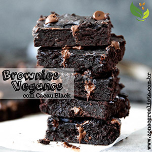 Brownies Veganos com Cacau Black