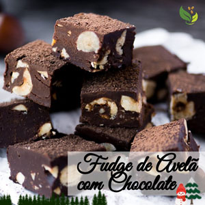 fudge de avelã